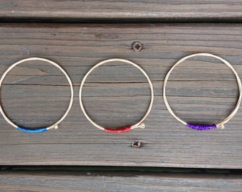 Colored Guitar String Bangle
