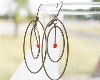 "Earrings ""Ignatia"", elegant, colorful, trend"