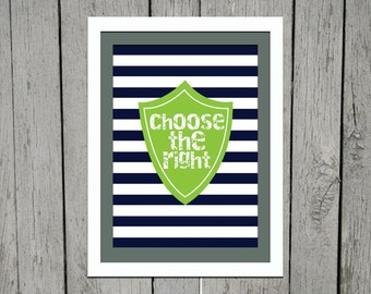 LDS Choose the Right 5 x 7 Print
