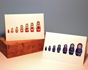 Russian Doll Set of Cards