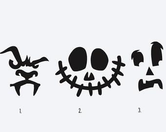 Pumpkin decal, pumpkin, Halloween decal, Jack-o-lantern decal, vinyl decal, diy decal, vinyl stickers, vinyl, pumpkin decals