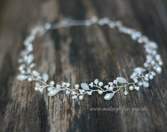 Bridal Wreath, Bridal headpiece, bridal adorement,  bridal hair vine, bridal tiara , delicate hair vine,