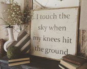 Touch the Sky, 2x2 Wood S...