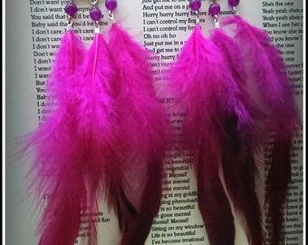 Dreamcatchers Boho Hippie feather earrings