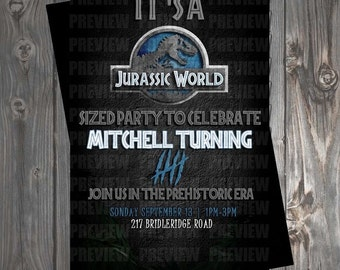 Jurassic Park Birthday Invitation