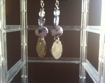 Glass Beads with Antler Dangle