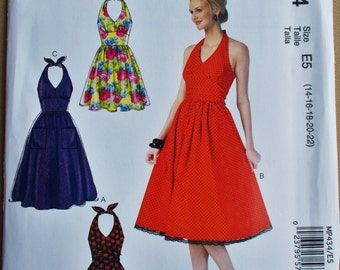025 McCALL'S Misses' Halter Dress Pattern Sizes 14, 16, 18, 20 and 22