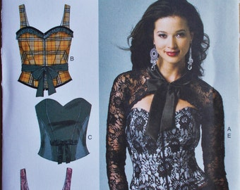 038 Butterick Making History Misses' Corset, Sash and Shrug Pattern Sizes 6, 8, 10, 12 and 14