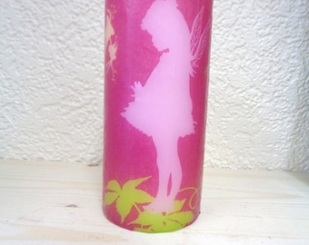 pink fairy candle