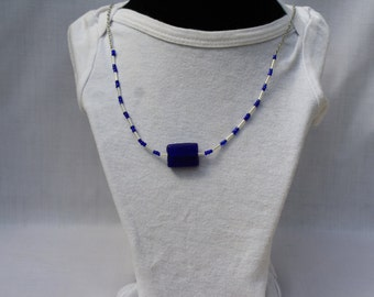 Cobalt blue necklace 16-080115
