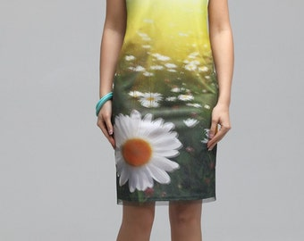752, 750 Women's summer 2-layer dress with 3D effect