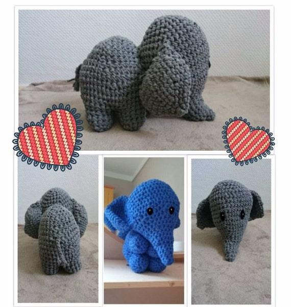 ahnliche Artikel wie XXL Amigurumi Elefant auf Etsy