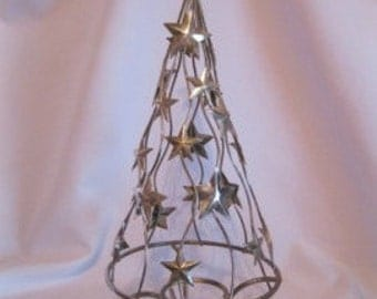 Vintage silver plated Christmas tree