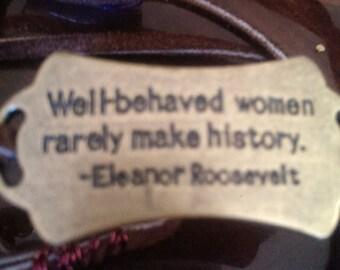 Brass Eleanor Roosevelt Wrap Bracelet