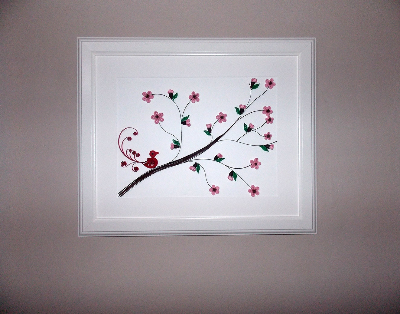 Quilling Home Decor Quilling Art Cherry Blossom Tree Quilling Bird Home Decor