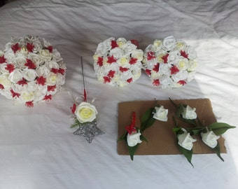 red &white wedding package