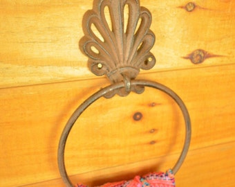 Filigree Cast Iron Towel Ring - Free Shipping