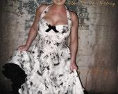 Rockabilly, Pinup, Gothic Day of the dead...dia de los muertos 50's dress