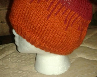 Red/Orange Drips Beanie