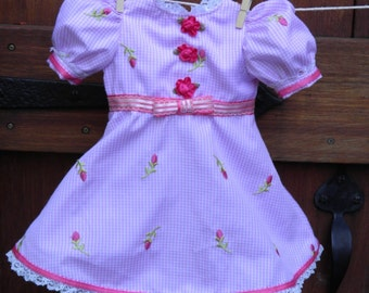 Doll clothing, American girl doll clothes, 18 inch doll dress