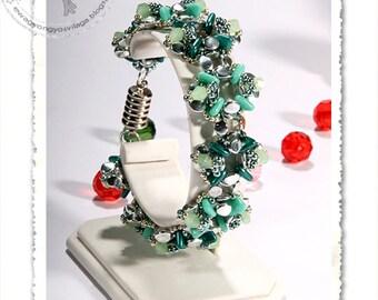 Blanca beaded bracelet PDF pattern