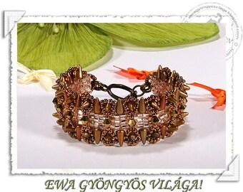 Devona  beaded bracelet PDF pattern