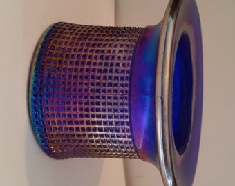 Cobalt BlueCarnival / Imperial Glass / top hat toothpick holder