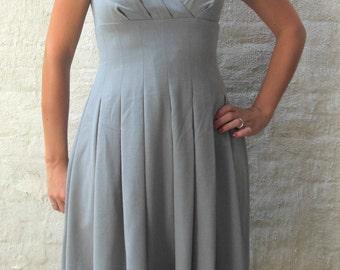 Calvin Klein Women's Gray Pleated Dress size 6