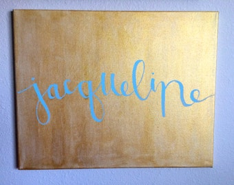 Customized Name/Word Painted Canvas