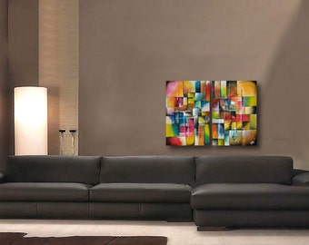 Original Abstract Painting - original contemporary fine art - acrylic painting on canvas