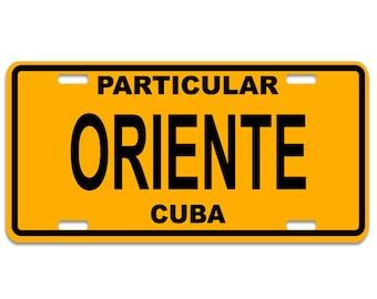 Oriente - Cuba Decorative License Plates - Chapa Cuba
