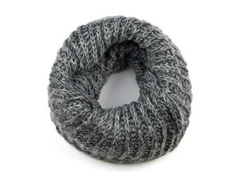 Grey Knit Snood