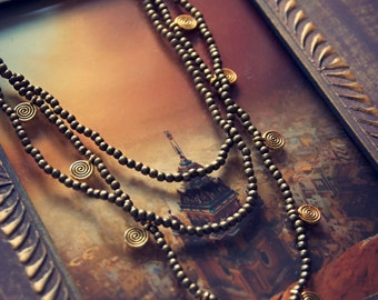Tribal Nomad Brass Necklace Hippie Bohemian Gipsy