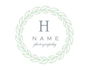 Circular Leaves Logo & Watermark Design - Branding - Small Business -  Boutique - Photography - Photographer - Country - Rustic - Simple