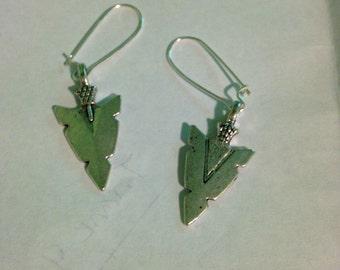 Silver Arrow head earrings