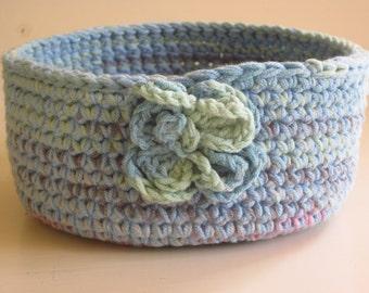Crochet textile bowl