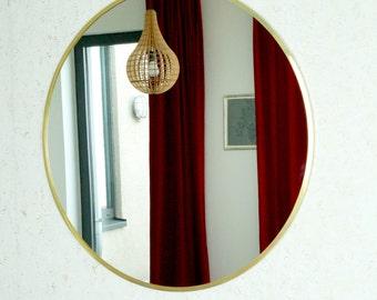Mirror brass round