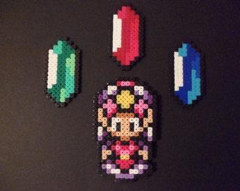 legend of zelda princess zelda collecting money gems perler magnets
