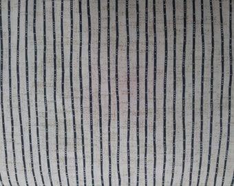 Tan with Black Lines 1/2 Metre - Shirting