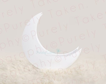 Newborn Baby Child Photography Prop Digital Backdrop for Photographers Moon