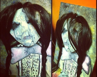 3D Cracked Doll Painting