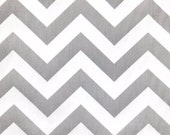 Premier Prints ZigZag Chevron in Storm Gray Twill Home Decor fabric, 1 yard