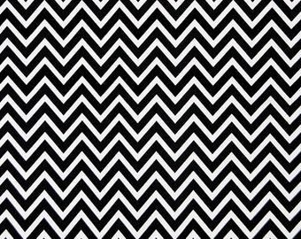 Premier Prints Cosmo Chevron in Black 7 oz Cotton Home Decor fabric, 1 yard