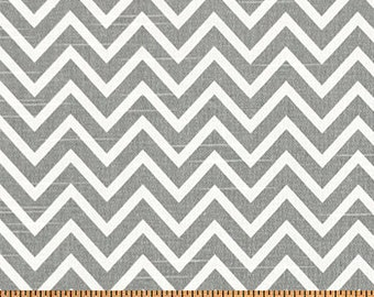 Premier Prints Cosmo Chevron in Ash Slub Home Decor fabric, 1 yard