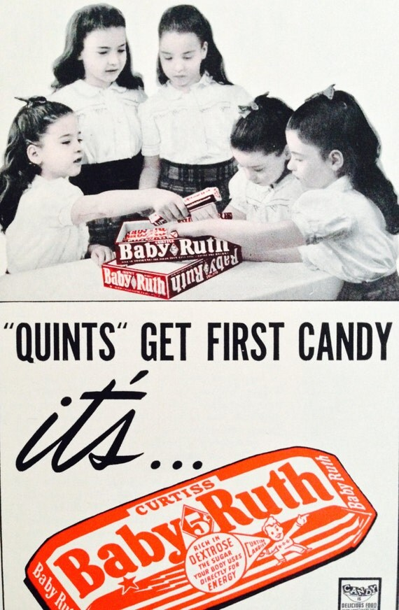 Vintage 1940's Baby Ruth ad candy magazine advertisement ...