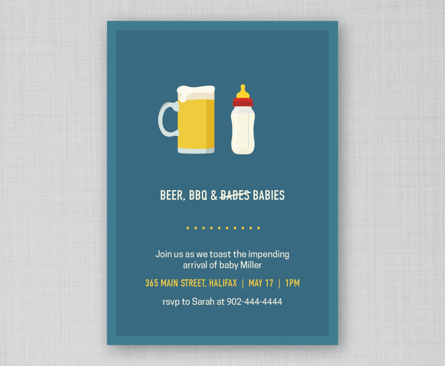 funny baby shower invitation beer bbq and babies invite