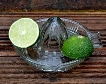 Vintage citrus glass squeezer