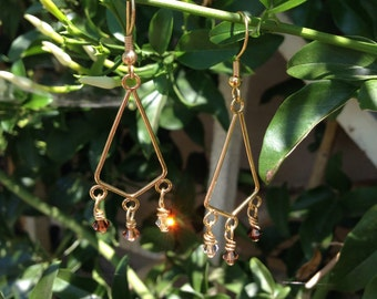 Desert Sands Earrings: Swarovski Crystals
