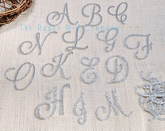 Large Initial Letters Birthdays, Weddings, Bridal Showers, Anniversary, Baby Shower Decorations 12 ct. Silver Glitter