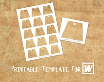 MICROSOFT WORD Compatible Printable Template: Trapezoid Shaped II for Hang Tag, Gift Tag, Label & Sticker - DiY Your Own Party Printables